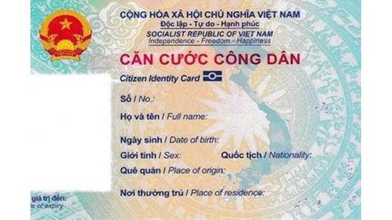 Mẫu thẻ căn cước công dân mới. Ảnh Bộ Công an