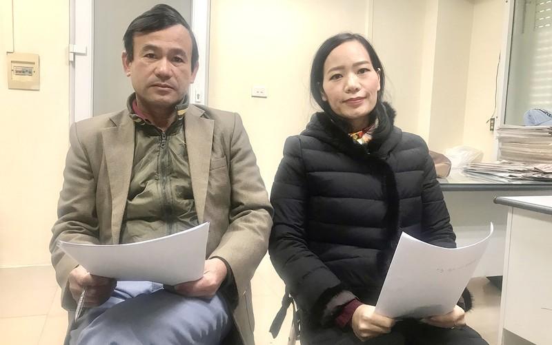 Anh Thịnh, chị Hòa phản ánh sự việc với PV.