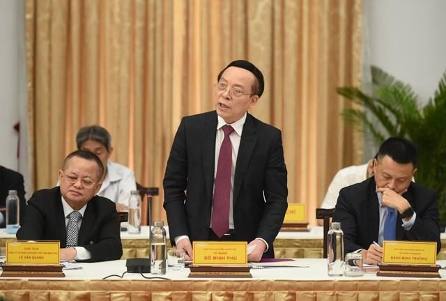 Chủ tịch TPBank Đỗ Minh Phú kiến nghị cần đẩy nhanh việc xây dựng hạ tầng dữ liệu quốc gia (Data).