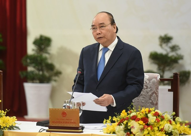Thủ tướng Nguyễn Xuân Phúc tại hội nghị.