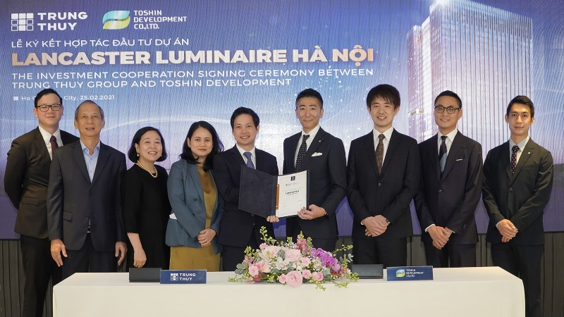 Tập đoàn Takashimaya bắt tay cùng Tập đoàn Trung Thủy đầu tư vào Dự án Lancaster Luminaire
