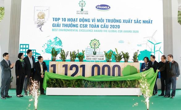 Quỹ 1 triệu cây xanh chính thức chạm đích với 1.121.000 cây xanh
