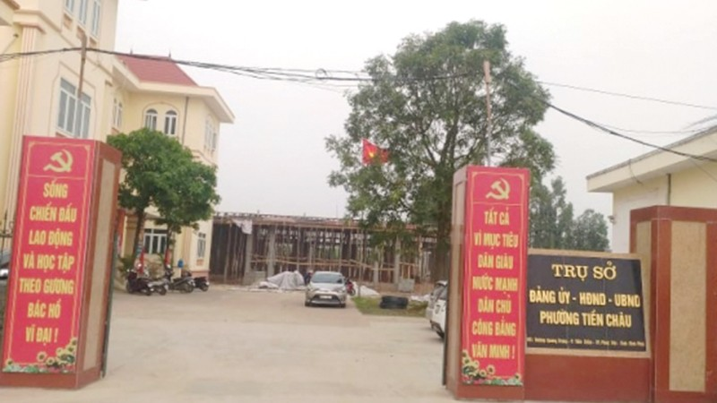 Trụ sở UBND phường Tiền Châu.