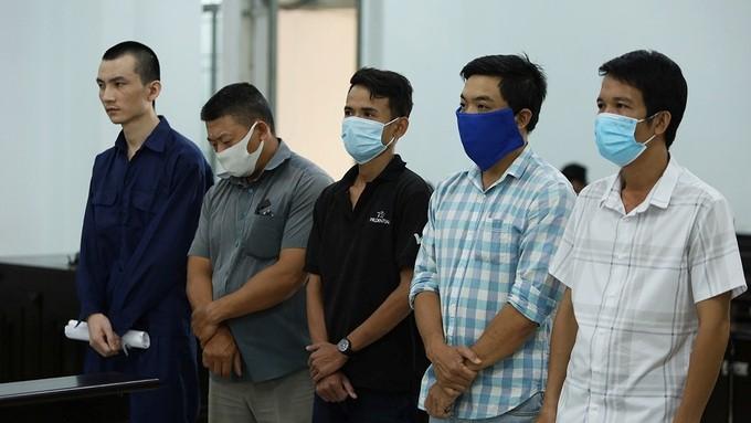 Các bị cáo trong vụ án (Ảnh:  Xuân Ngọc/vnexpress.net)