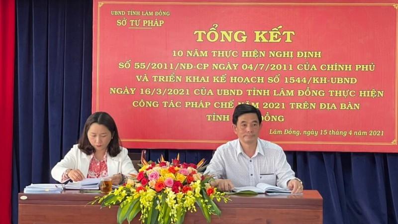 Hội nghị Tổng kết 10 năm thực hiện Nghị định 55/2011/NĐ-CP được Lâm Đồng tổ chức ngày 15/4/2021.