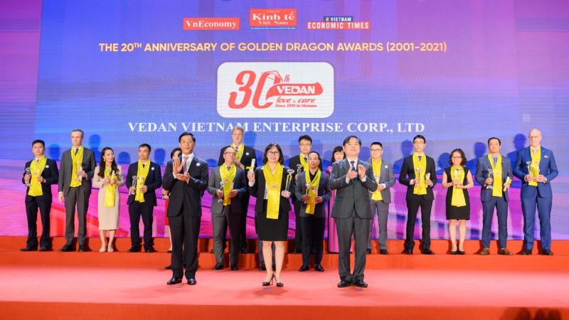 """Vedan Việt Nam nhận """"Giải thưởng Rồng Vàng 2020"""""""