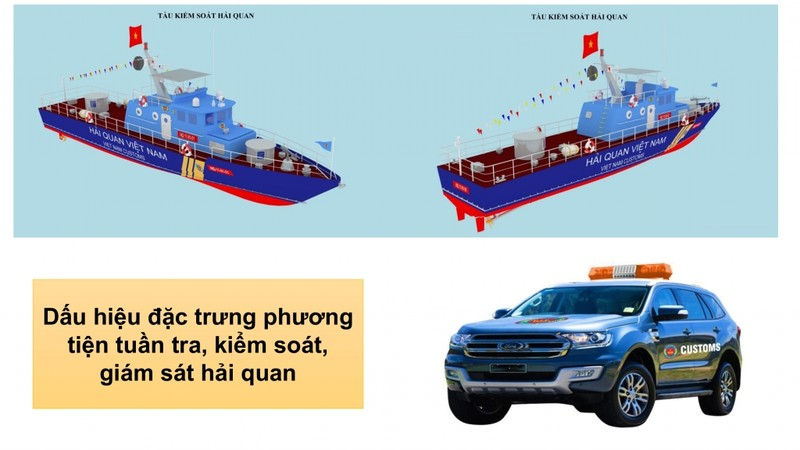 Nhận biết dấu hiệu đặc trưng của phương tiện tuần tra, kiểm soát, giám sát hải quan