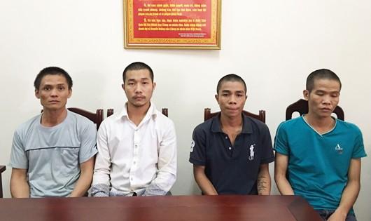 Bốn đối tượng trốn nã trong các tỉnh miền Nam và Tây Nguyên được di lí về Nghệ An