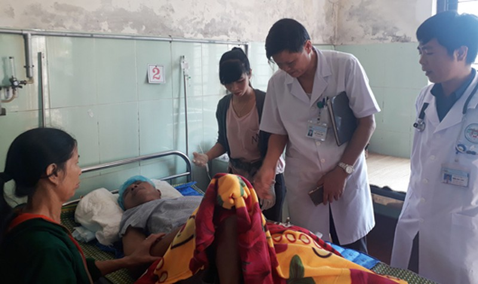 Bệnh nhân Bình được cứu sống sức khỏe đang tiến triển rất tốt.