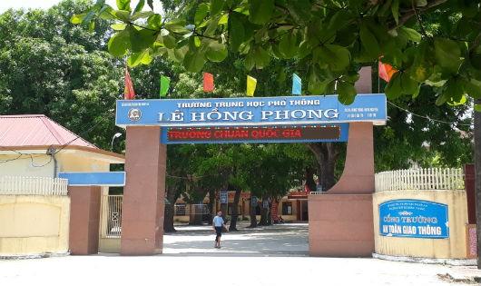 Trường THPT Lê Hồng Phong nơi hai em Thành và Cường từng theo học.