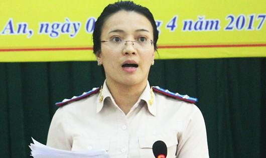 Cục trưởng Cục THADS Nghệ An Hoàng Thị Thu Trang.