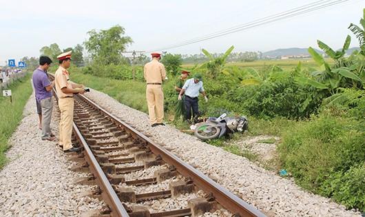 Hiện trường vụ tai nạn (ảnh Xuân Bảy)