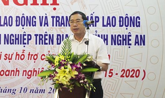 Ông Hoàng Quốc Hào, Giám đốc Sở Tư pháp Nghệ An khai mạc Hội nghị.