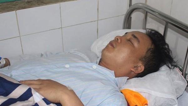 Truơng Mạnh Tuấn đang điều trị tại bệnh viện