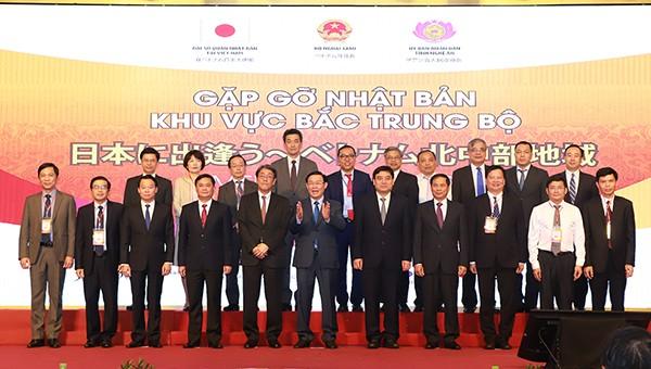 Các đại biểu tham dự Hội nghị gặp gỡ Nhật Bản - khu vực Bắc Trung bộ 2019