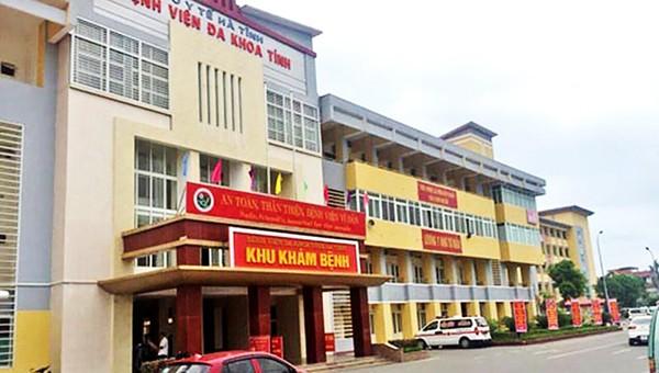 Bệnh viện đa khoa tỉnh Hà Tĩnh.