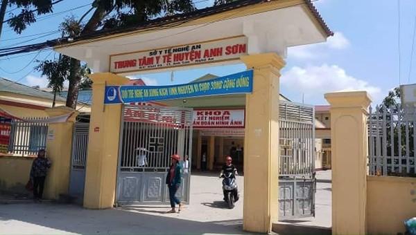 Trung tâm y tế huyện Anh Sơn nơi xảy ra sự việc.
