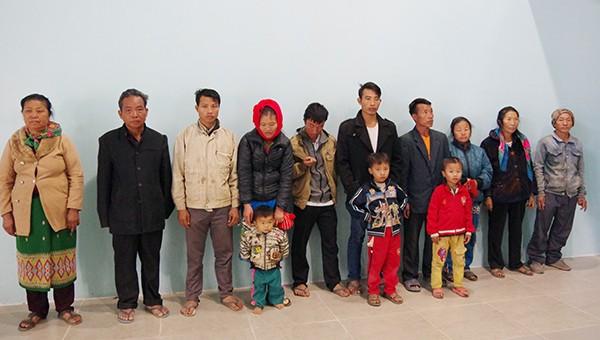 Tiếp nhận 7 hộ dân di cư trú trái phép tại Lào về nước