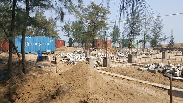 Doanh nghiệp dựng container trong rừng phòng hộ khi chưa được cấp phép