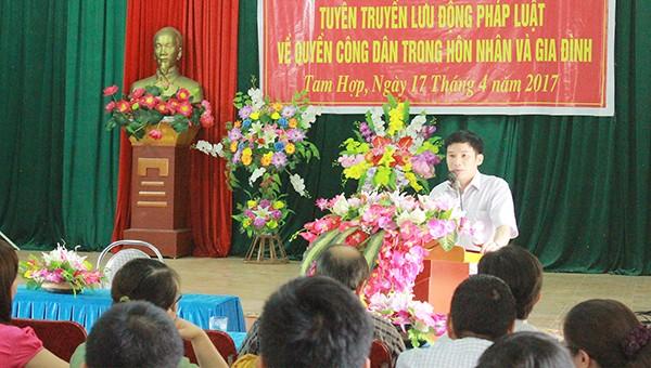 Xây dựng Trang thông tin điện tử Phổ biến, giáo dục pháp luật tỉnh Nghệ An