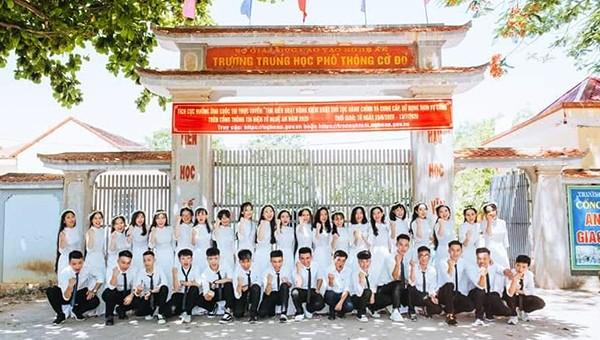 Trường THPT Cờ Đỏ nơi nam sinh Khánh Duy theo học.