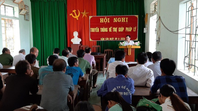 Hội nghị truyền thông về trợ giúp pháp lý được tổ chức tại xã biên giới Nậm Cắn (huyện Kỳ Sơn)