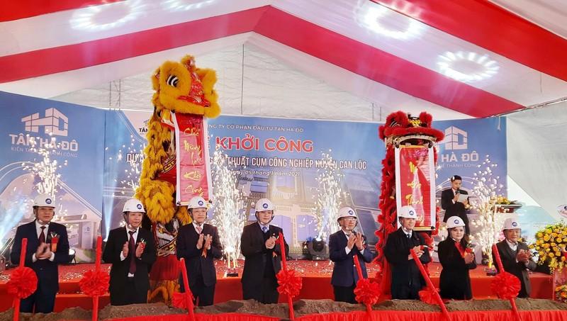 Hà Tĩnh khởi công hàng loạt dự án đầu tư hạ tầng kỹ thuật cụm công nghiệp