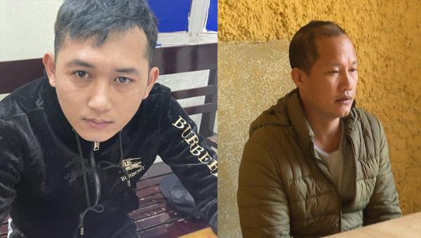 2 đối tượng Trần Thế Quang (trái) và Nguyễn Đăng Hùng.