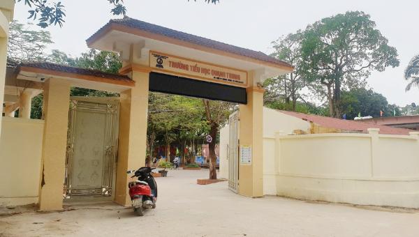 Trường Tiểu học Quang Trung nơi xảy ra vụ việc.