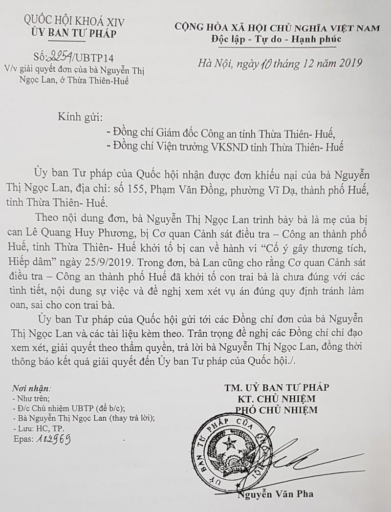 Thừa Thiên Huế: Gia đình bác sỹ Lê Quang Huy Phương nói gì về sự việc bác sỹ Phương bị khởi tố?