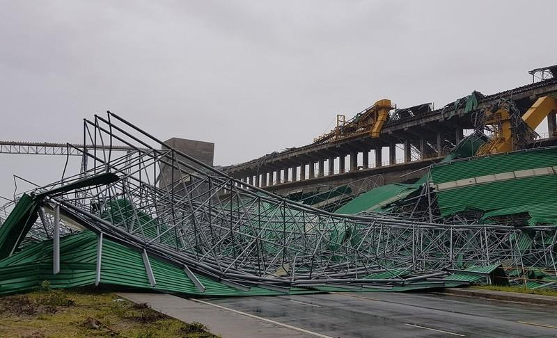 Hà Tĩnh yêu cầu Formosa sớm khắc phục kho than bị bão đánh sập