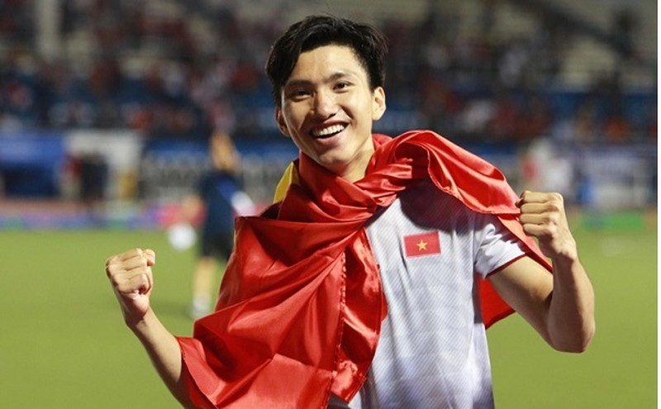Đoàn Văn Hậu là 1 trong 2 vận động viên trong Đoàn đại biểu Bộ VH-TT-DL tham dự Đại hội thi đua yêu nước toàn quốc lần thứ X.