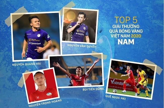 Đêm nay, ai được xướng tên Quả bóng vàng Việt Nam?