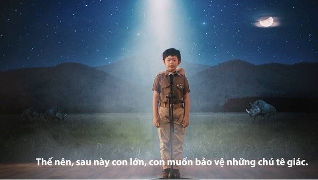 'Mai sau con lớn' thông điệp mạnh mẽ cứu lấy tê giác