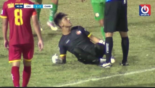 Thủ môn Thanh Vũ đã bị treo giò 3 trận.