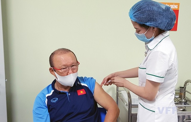 HLV Park Hang-seo và các cộng sự trong BHL đã hoàn thành tiêm vắc xin phòng COVID-19 vào ngày 5/4 vừa qua.