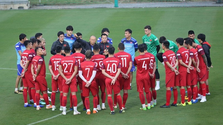 Thầy Park đã công bô danh sách cầu thủ dự đợt tập huấn tại Quy Nhơn