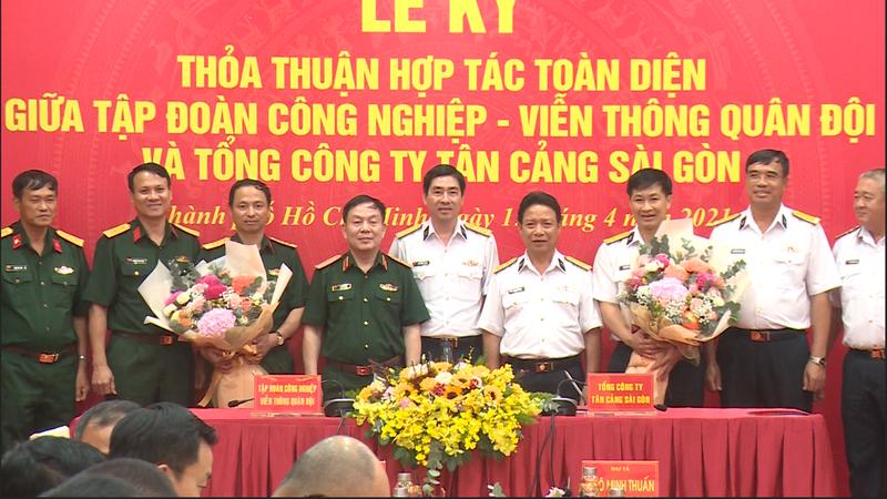 Tổng công ty Tân Cảng Sài Gòn và Tập đoàn Viettel ký kết thỏa thuận hợp tác song phương