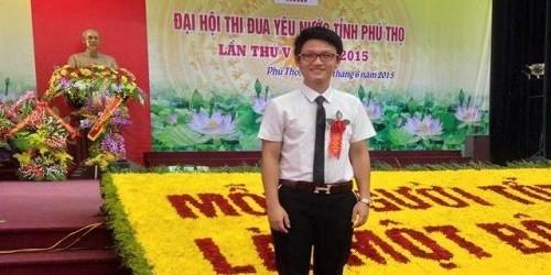Nguyễn Trung Thành tại Đại hội thi đua yêu nước tỉnh Phú Thọ.