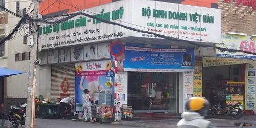 Bảng hiệu hiện tại của hộ kinh doanh Việt Hàn tại số 52C Nguyễn Bỉnh Khiêm.