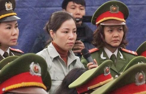 Nguyễn Thị Huệ trong phiên xử phúc thẩm vụ án mua bán trái phép ma túy.
