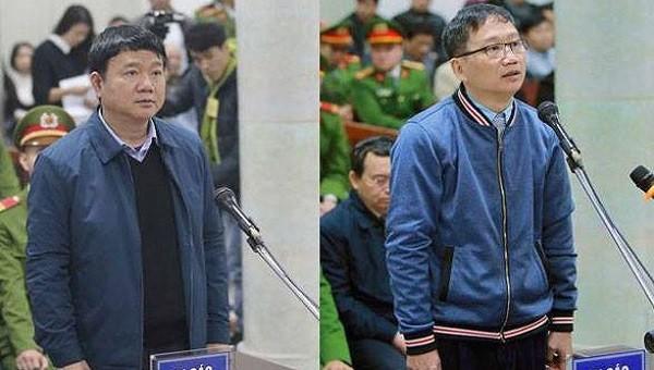 Ngày 8/3, bị cáo Đinh La Thăng, Trịnh Xuân Thanh hầu tòa