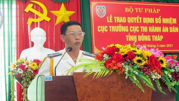Trao Quyết định bổ nhiệm Cục trưởng và Cờ thi đua của Chính phủ cho Cục THADS tỉnh Đồng Tháp