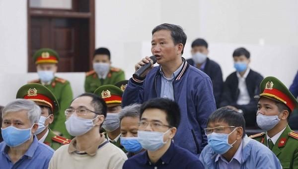 Trịnh Xuân Thanh tại tòa.