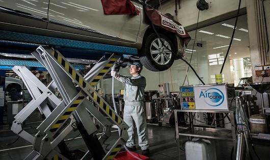 10.000 lượt xe vào làm dịch vụ vệ sinh giàn lạnh điều hòa chính hãng tại các đại lý của TMV