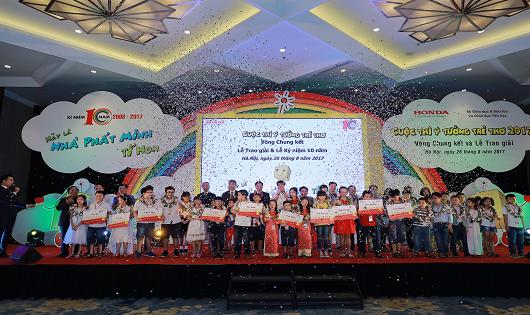 Vinh danh 30 ý tưởng xuất sắc nhất tại Vòng chung kết và Lễ trao giải Cuộc thi Ý tưởng trẻ thơ lần thứ 10