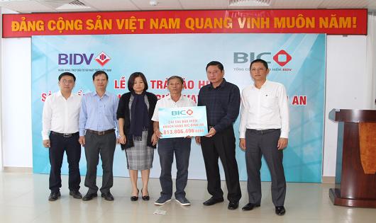 BIC chi trả bảo hiểm hơn 800 triệu đồng cho khách hàng tại Nha Trang vay vốn của BIDV không may qua đời