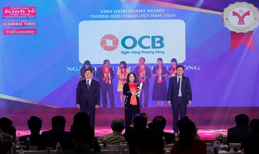 """OCB nhận giải thưởng """"Thương hiệu mạnh Việt Nam 2018"""""""