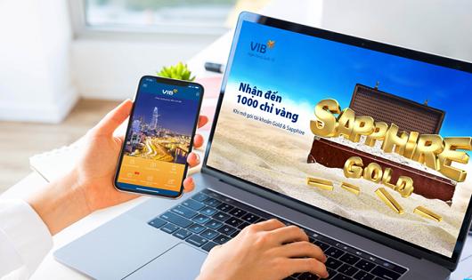 Giao dịch miễn phí trọn đời, hoàn tiền không giới hạn và tặng 1.000 chỉ vàng với gói tài khoản VIB