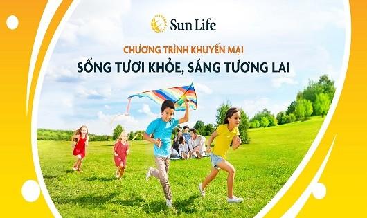 """Sun Life tung chương trình khuyến mại  """"Sống tươi khỏe, Sáng tương lai"""""""